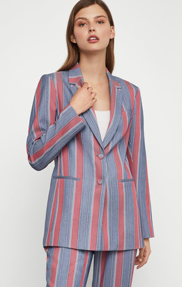 BCBGMAXAZRIA Striped Single Breasted Blazer