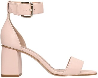 RED Valentino Sandals In Rose-pink Leather