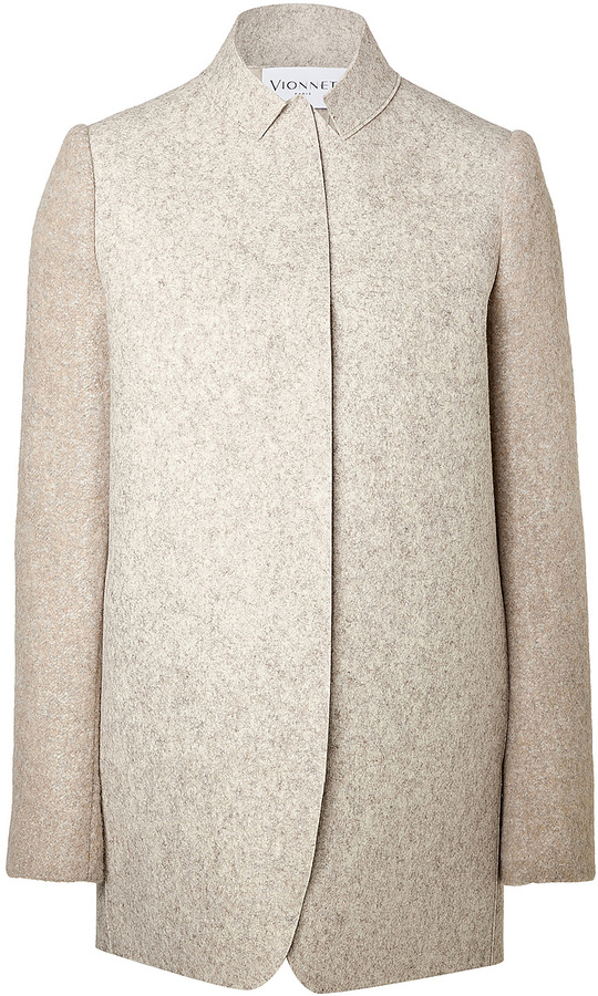 Vionnet Wool Jacket with Printed Back