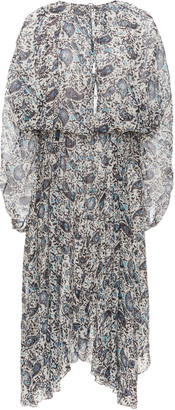Etoile Isabel Marant Laureli Printed Chiffon Midi Dress