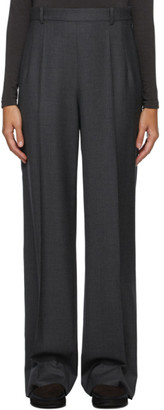 The Row Grey Wool Ewan Trousers