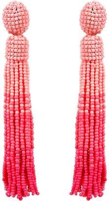 Amrita Singh Women's Earrings Pink - Pink Ombre Beaded Drop Earrings