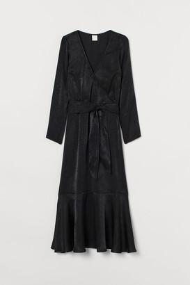 H&M Shimmering Satin Dress