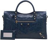 Balenciaga Giant 12 Golden City Bag, Bleu Mineral