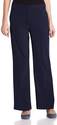 Briggs New York Women's Slash Pocket Straight Leg Pant with No Gap Waistband