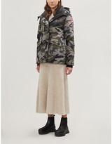 Canada Goose Rideau camouflage-print hooded shell-down jacket