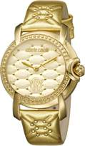 Roberto Cavalli Women's RV1L019L0046 QUILTED Dial Gold Leather Watch