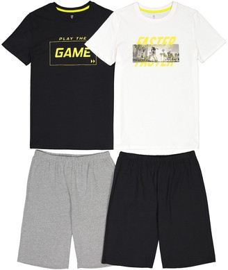 La Redoute Collections Pack of 2 Cotton Short Pyjamas, 10-18 Years