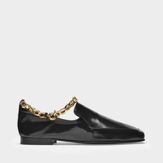 BY FAR Flat Shoes Nick In Black Semi Patent Leather