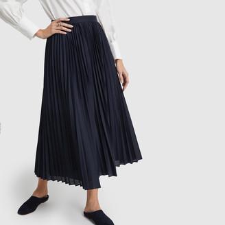Banana Republic Pleated Poplin Midi Skirt - 0