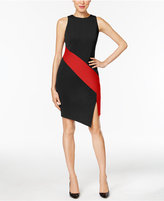 ECI Crepe Colorblocked Sheath Dress