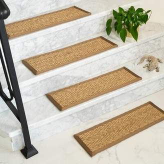 Rosecliff Heights Soperton Seagrass Carpet Stair Tread Rosecliff Heights