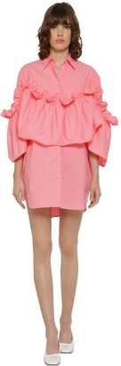 MM6 MAISON MARGIELA Ruffled Poplin Shirt Dress