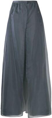 Giorgio Armani Overlapping Organza Panels Trousers
