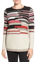 Nic+Zoe 'Tonal Tides' Stripe Side Zip Top (Regular & Petite)
