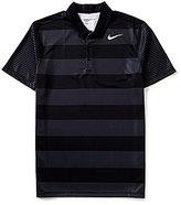 Nike Breathe Bold Stripe Short-Sleeve Polo Shirt