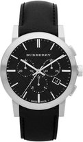 Burberry BU9356 42mm Stainless Steel Case Leather Anti-Reflective Sapphire Men's Watch