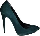Balenciaga Green Suede Heels