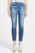 Mother 'The Muse' Ankle Skinny Jeans (China Blossom)