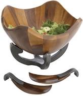 Nambe Anvil Scroll Salad Bowl Set