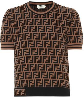 Fendi Logo jersey shirt