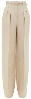 Gabriela Hearst Vargas Wide-leg Wool-blend Pique Suit Trousers - Beige