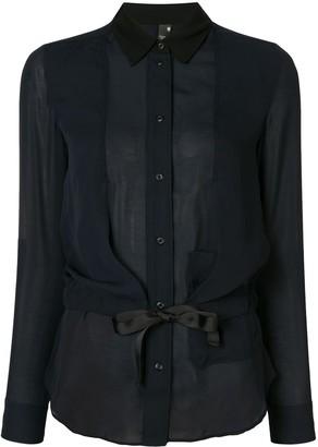 G Star Drawstring Waist Long-Sleeved Shirt