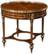 "Theodore Alexander Blaise 36"" Round Side Table - Brown/Brass"