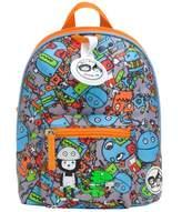 Babymel Zip & Zoe Mini Backpack & Safety Harness - Robots Blue