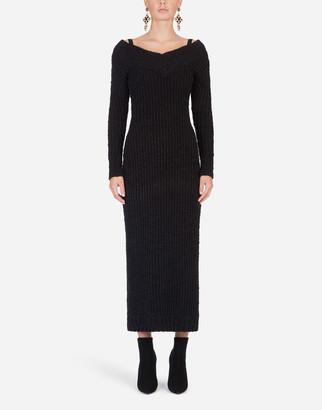Dolce & Gabbana Long-Sleeved Knit Dress