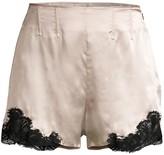 Kiki de Montparnasse Lace-Trim Satin Shorts