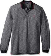 U.S. Polo Assn. Men's Classic Fit Solid Long Sleeve Pique Polo Shirt