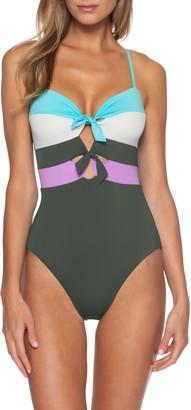 Becca Circuit Colorblock One-Piece Swimsuit