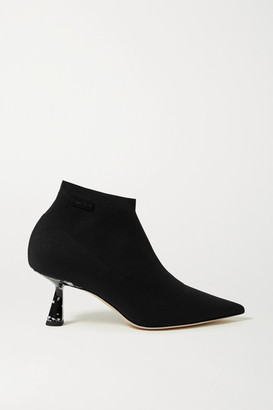 Jimmy Choo Saber 65 Stretch-knit Ankle Boots - Black