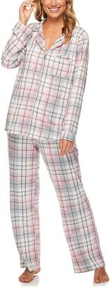 Kathy Ireland Women's Sleep Bottoms EVERG - Evergreen Geometric Pocket Pajama Set - Women