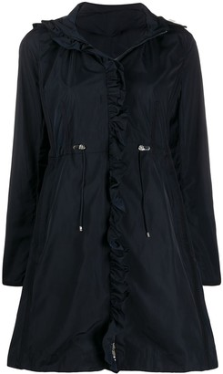 Moncler Ruffle Trim Parka Coat