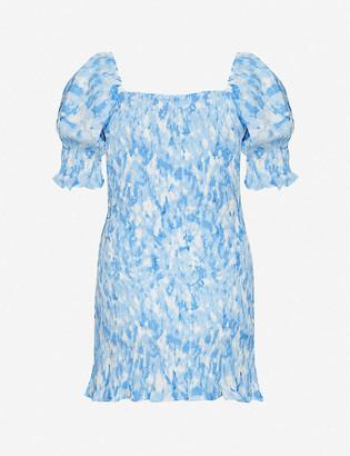 Faithfull The Brand Magnolia abstract-print rayon mini dress