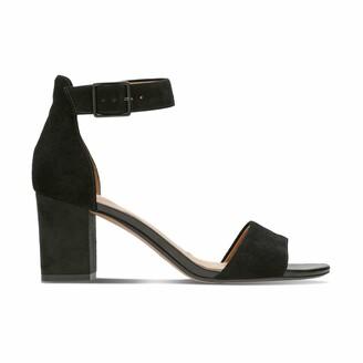 Clarks Deva Mae High Heeled Suede Sandals