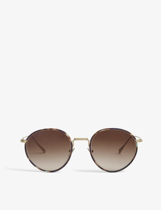 Giorgio Armani AR6103J 51 metal and acetate round-frame sunglasses
