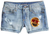 Imperial Star Reversible Sequin Emoji Shorts, Big Girls