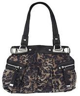 B. Makowsky Animal Print Fabric Tote Bag with Side Pockets