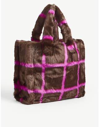 STAND Lolita faux-fur tote bag