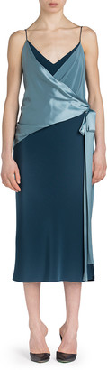 UNTTLD Salome Satin-Draped Dress