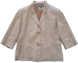 Krizia Camel Linen Jacket for Women Vintage