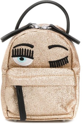 Chiara Ferragni small Flirting glittery backpack