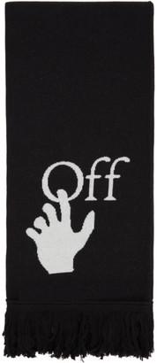 Off-White Black and White Logo Scarf