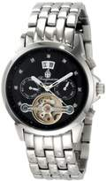 Burgmeister Ladies Imperia Automatic Analogue Wrist Watch BM141-121 With Stainless Steel Balance-Wheel Black Dial