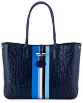 Longchamp Roseau Club Striped Tote Bag