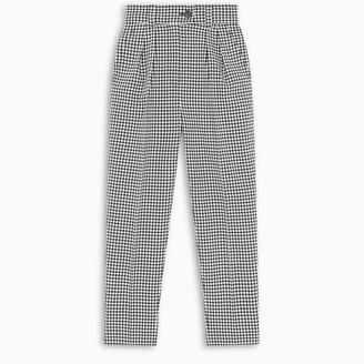 Miu Miu Check print high-waisted trousers