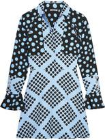 House of Holland Spotlight polka-dot crepe mini dress